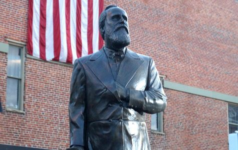 The statue of Rutherford B. Hayes is welcomed to Delaware after seven months of planning
