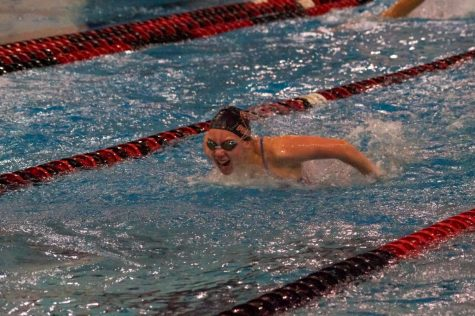Girl swimming.