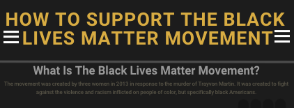 How to support the Black Lives Matter movementInfographic