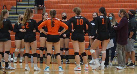 Team huddle volleyball photo