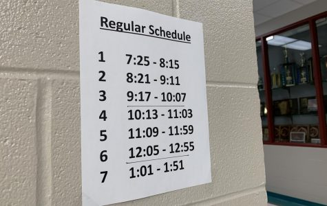 New school schedule of seven period day