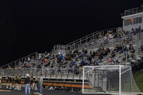 Supporters of the Hayes football team watch the game on September 25.
