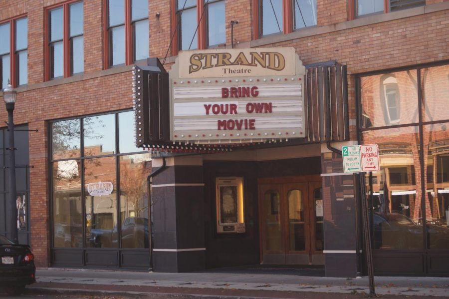 Strand movie theatre marquis