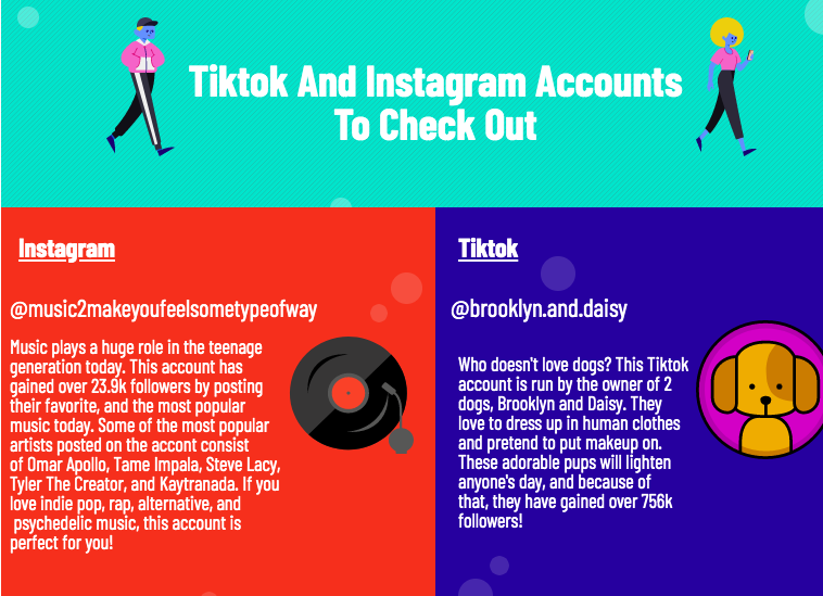 Tiktok and Instagram accounts to check out