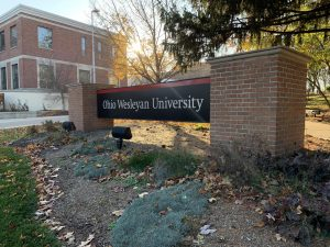 Ohio Wesleyan University sign