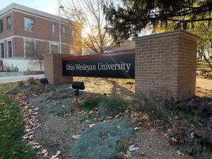Ohio Wesleyan University sign