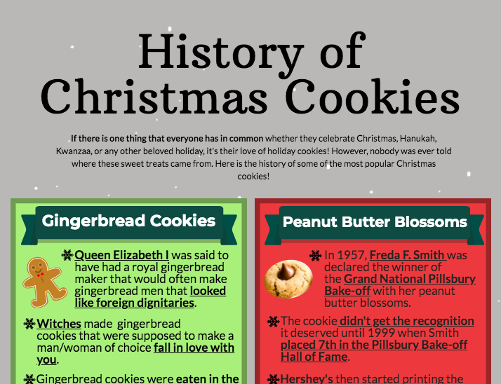 A brief history of Christmas cookies