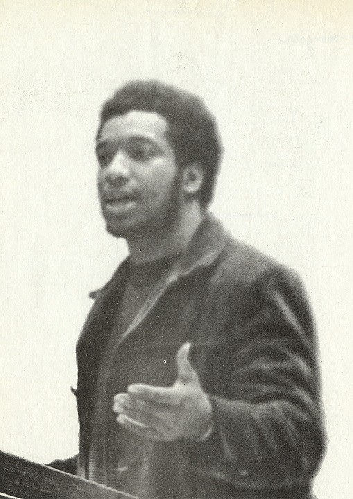 The real Fred Hampton gives a speech. He was depicted by Daniel Kaluuya in