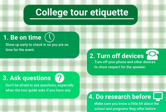 College tour etiquette
