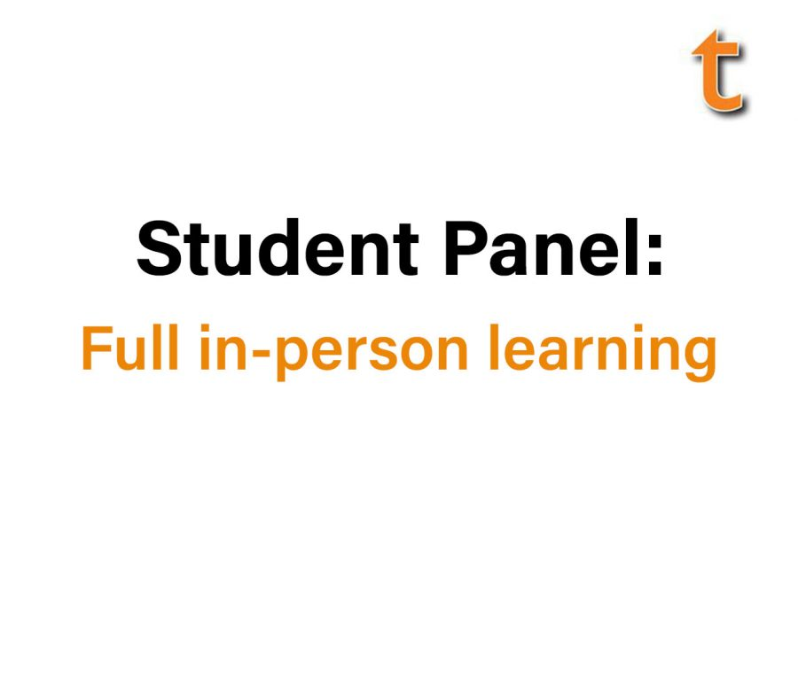 Title screen of the student panel discussion.
