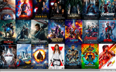 Collage of the Marvel movies in chronological order.