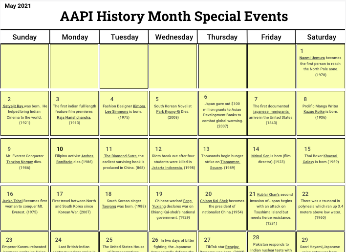 Celebrate AAPI History Month
