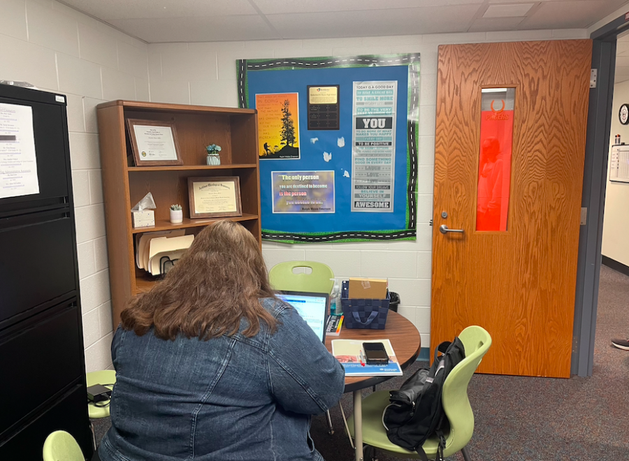 Syntero Counselor Shannon Miller works at Hayes this year to provide extra support to students.