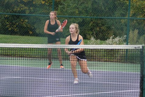Autumn Doughty and Delaney Nelson play point.