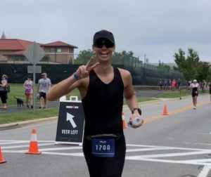 Wion runs the marathon portion of the IRONMAN in Cambridge, Maryland.  He finished the race in about 13.5 hours.